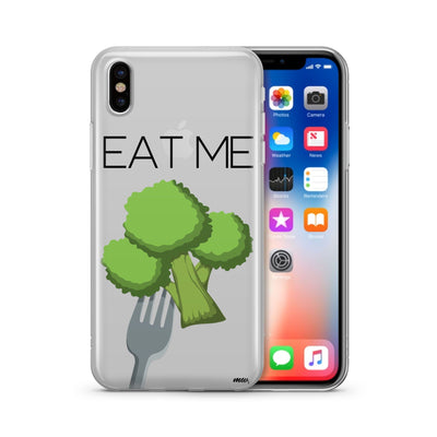 Eat Me - Clear TPU Case Cover - Milkyway Cases -  iPhone - Samsung - Clear Cut Silicone Phone Case Cover