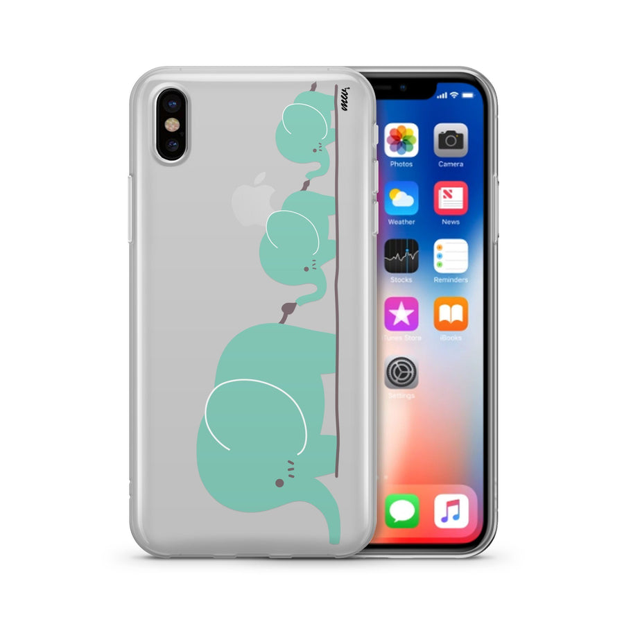 Elephant Family Clear TPU Case - Clear Cut Silicone iPhone Cover - Milkyway Cases
