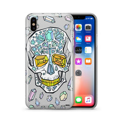 Encrusted Skull - Clear TPU Case Cover