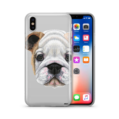 English Bulldog Puppy - Clear Case Cover - Milkyway Cases -  iPhone - Samsung - Clear Cut Silicone Phone Case Cover
