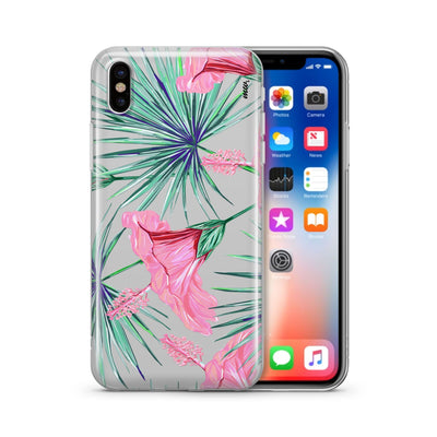Exotic Hibiscus - Clear TPU Case Cover - Milkyway Cases -  iPhone - Samsung - Clear Cut Silicone Phone Case Cover
