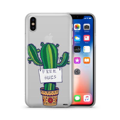 Free Hugs Clear TPU Case - Clear Cut Silicone iPhone Cover - Milkyway Cases