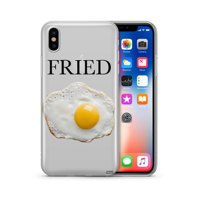 Fried' - Clear Case Cover - Milkyway Cases -  iPhone - Samsung - Clear Cut Silicone Phone Case Cover