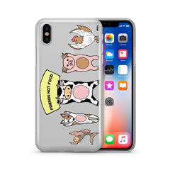 Friends Not Food - Clear TPU Case Cover