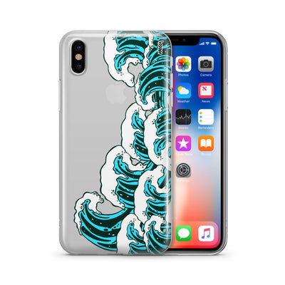 Full Great Wave Off Kanagawa - Clear TPU Case Cover - Milkyway Cases -  iPhone - Samsung - Clear Cut Silicone Phone Case Cover