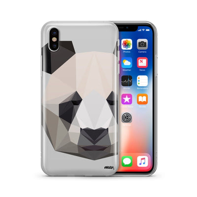 Geo Panda - Clear TPU Case Cover - Milkyway Cases -  iPhone - Samsung - Clear Cut Silicone Phone Case Cover