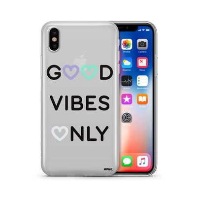 Good Vibes Only - Clear TPU Case Cover - Milkyway Cases -  iPhone - Samsung - Clear Cut Silicone Phone Case Cover
