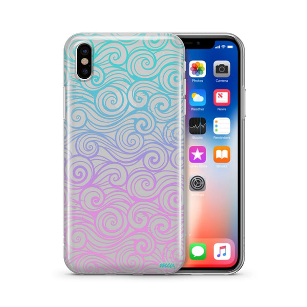 Gradient Wave - Clear TPU Case Cover - Milkyway Cases -  iPhone - Samsung - Clear Cut Silicone Phone Case Cover