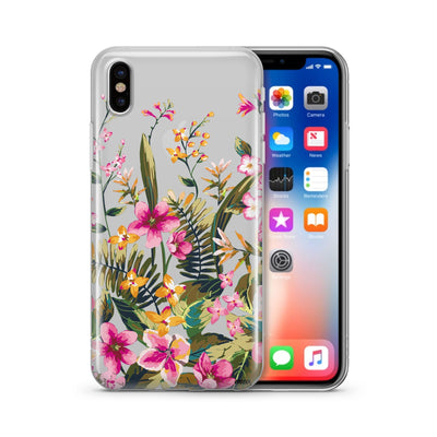 Growing Garden - Clear TPU Case Cover - Milkyway Cases -  iPhone - Samsung - Clear Cut Silicone Phone Case Cover