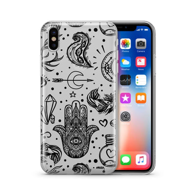 Gypsy Style - Clear Case Cover - Milkyway Cases -  iPhone - Samsung - Clear Cut Silicone Phone Case Cover