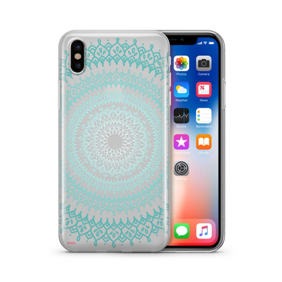 @Okitssteph X Milkyway Cases Gypsy Teal Mandala - Clear Case Cover