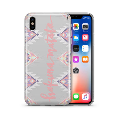 Aztec Hakuna Matata - Clear TPU Case Cover - Milkyway Cases -  iPhone - Samsung - Clear Cut Silicone Phone Case Cover