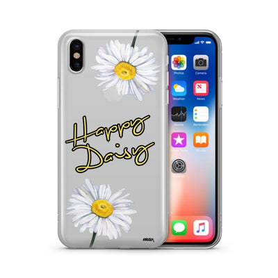 Happy Daisy - Clear TPU Case Cover - Milkyway Cases -  iPhone - Samsung - Clear Cut Silicone Phone Case Cover