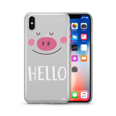 Piggy Says Hello - Milkyway Cases -  iPhone - Samsung - Clear Cut Silicone Phone Case Cover