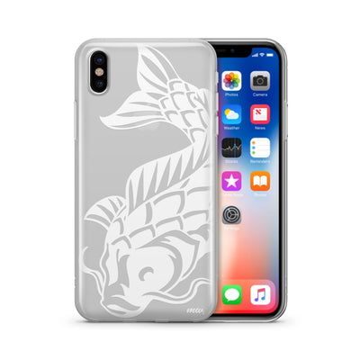 Henna Koi Fish - Clear TPU Case Cover Milkyway iPhone Samsung Clear Cute Silicone 8 Plus 7 X Cover
