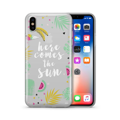 Here Comes The Sun Clear TPU Case - Clear Cut Silicone iPhone Cover - Milkyway Cases