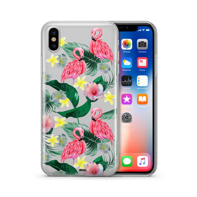 Hibiscus Paradise Clear TPU Case - Clear Cut Silicone iPhone Cover - Milkyway Cases