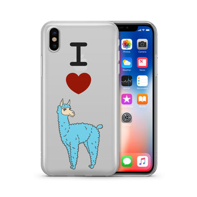 I Love Llamas - Clear TPU Case Cover - Milkyway Cases -  iPhone - Samsung - Clear Cut Silicone Phone Case Cover