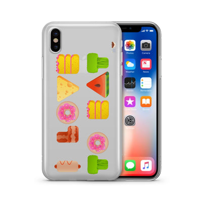 I Love To Eat - Clear TPU Case Cover - Milkyway Cases -  iPhone - Samsung - Clear Cut Silicone Phone Case Cover