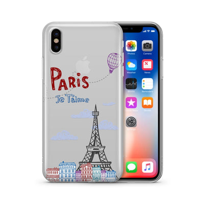 Je T'aime Paris - Clear TPU Case Cover - Milkyway Cases -  iPhone - Samsung - Clear Cut Silicone Phone Case Cover