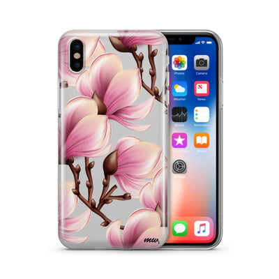Magnolia - Clear TPU Case Cover - Milkyway Cases -  iPhone - Samsung - Clear Cut Silicone Phone Case Cover