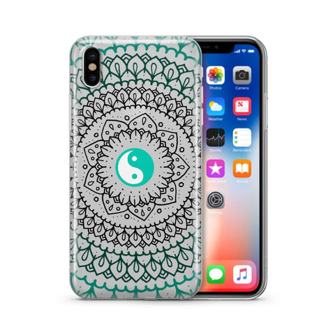Steph Okits X Milkyway Cases Yin Yang Mandala - Clear TPU Case Cover