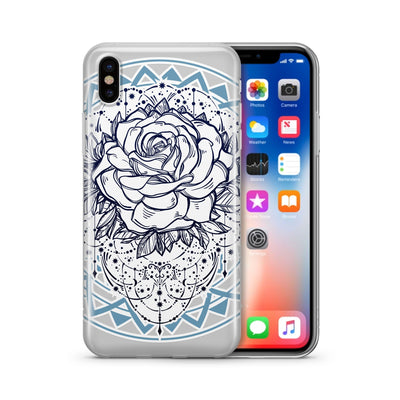 Mystic Rose - Clear Case Cover - Milkyway Cases -  iPhone - Samsung - Clear Cut Silicone Phone Case Cover