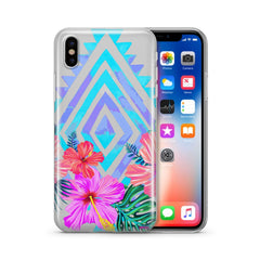 Navajo Hibiscus - Clear TPU Case Cover