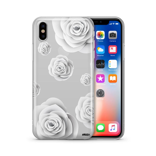 Paper Rose - Clear TPU Case Cover - Milkyway Cases -  iPhone - Samsung - Clear Cut Silicone Phone Case Cover