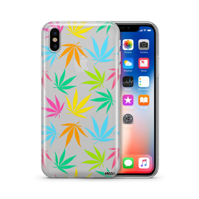 Pastel Plantlife - Clear TPU Case Cover - Milkyway Cases -  iPhone - Samsung - Clear Cut Silicone Phone Case Cover