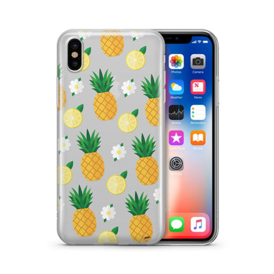 Pineapple Lemon Summer - Clear Case Cover - Milkyway Cases -  iPhone - Samsung - Clear Cut Silicone Phone Case Cover