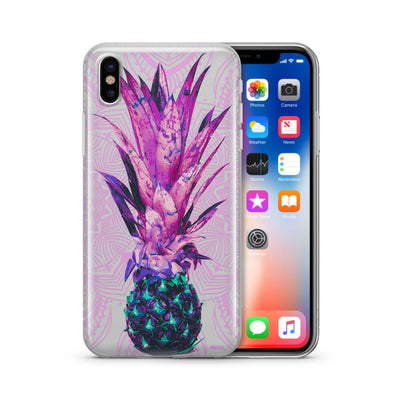 Pineapple Mandala - Clear TPU Case Cover - Milkyway Cases -  iPhone - Samsung - Clear Cut Silicone Phone Case Cover