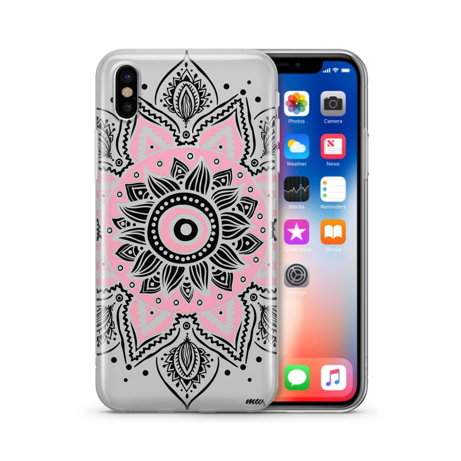 Pink Mandala - Clear TPU Case Cover