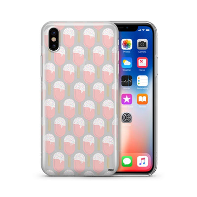 Pinksicle (milkywaycases x okitssteph) - Clear Case Cover - Milkyway Cases -  iPhone - Samsung - Clear Cut Silicone Phone Case Cover