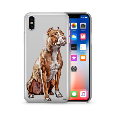 Pit Bull - Clear TPU Case Cover - Milkyway Cases -  iPhone - Samsung - Clear Cut Silicone Phone Case Cover