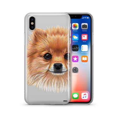Pomsky Puppy  - Clear Case Cover - Milkyway Cases -  iPhone - Samsung - Clear Cut Silicone Phone Case Cover