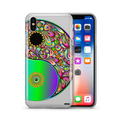 Psychedelic Yin Yang - Clear TPU Case Cover
