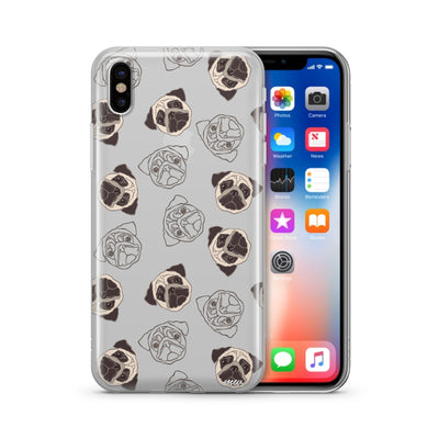 Pug Overload - Clear TPU Case Cover - Milkyway Cases -  iPhone - Samsung - Clear Cut Silicone Phone Case Cover