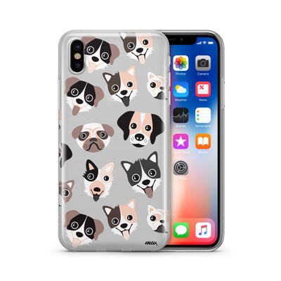 Puppy Love - Clear TPU Case Cover - Milkyway Cases -  iPhone - Samsung - Clear Cut Silicone Phone Case Cover