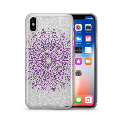 Purple Mandala (@okitssteph x @milkywaycases) - Clear Case Cover - Milkyway Cases -  iPhone - Samsung - Clear Cut Silicone Phone Case Cover