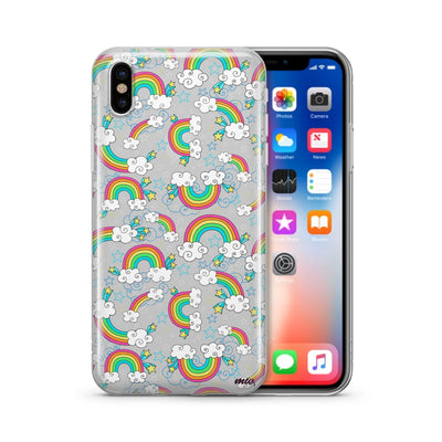 Super Rainbow - Clear TPU Case Cover - Milkyway Cases -  iPhone - Samsung - Clear Cut Silicone Phone Case Cover