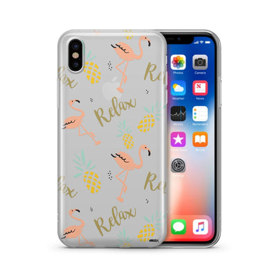 Relax - Clear Case Cover - Milkyway Cases -  iPhone - Samsung - Clear Cut Silicone Phone Case Cover
