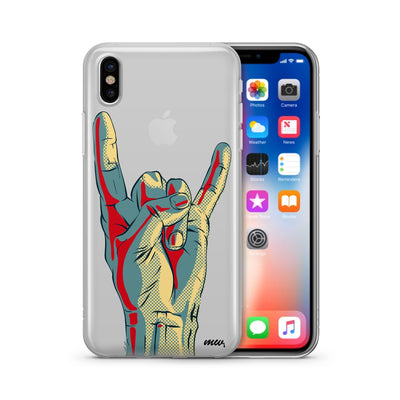 Rock On - Clear TPU Case Cover - Milkyway Cases -  iPhone - Samsung - Clear Cut Silicone Phone Case Cover