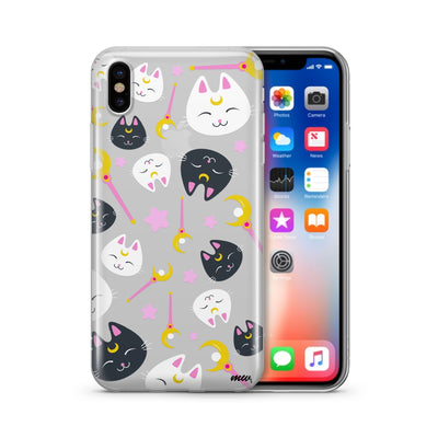 Sailor Kitty iPhone & Samsung Clear Phone Case by @okitssteph - Milkyway Cases -  iPhone - Samsung - Clear Cut Silicone Phone Case Cover