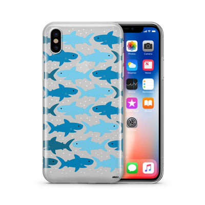 Sharkies (@okittsteph x @milkywaycases) - Clear Case Cover - Milkyway Cases -  iPhone - Samsung - Clear Cut Silicone Phone Case Cover