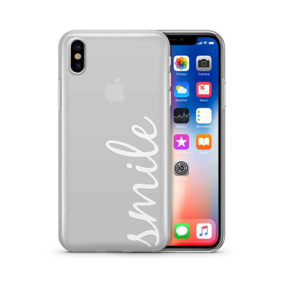 Smile Quote Clear TPU Case - Clear Cut Silicone iPhone Cover - Milkyway Cases