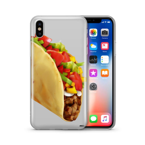 Soft Shell Taco Clear Case Cover Milkyway