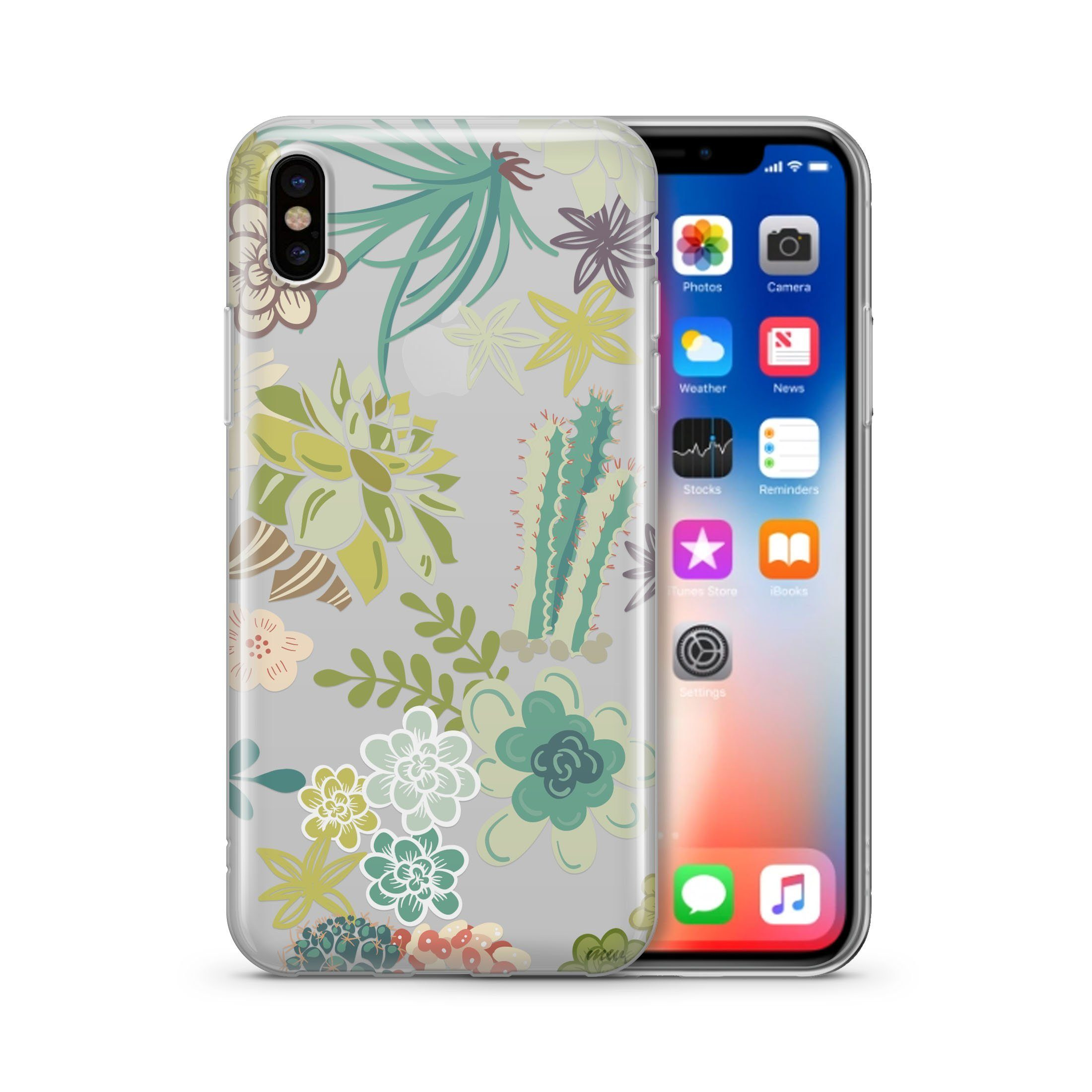 Succulent Garden - Clear Case Cover
