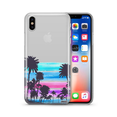Summer Sunset - Clear TPU Case Cover - Milkyway Cases -  iPhone - Samsung - Clear Cut Silicone Phone Case Cover