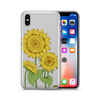 Sunny Sunflower - Clear TPU Case Cover - Milkyway Cases -  iPhone - Samsung - Clear Cut Silicone Phone Case Cover
